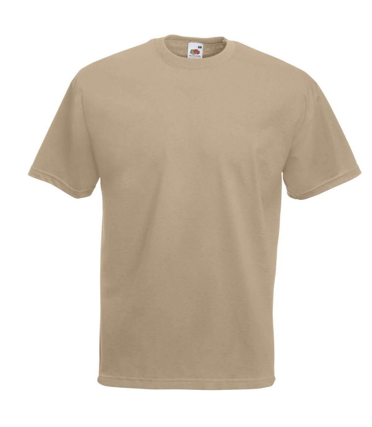 Fruit Of The Loom Mens Valueweight Short Sleeve T-Shirt (Black) - UTBC330