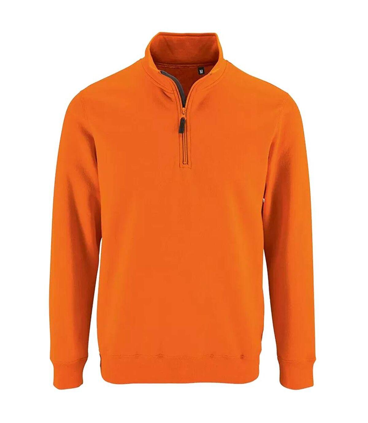 SOLS Mens Stan Contrast Zip Neck Sweatshirt (French Navy) - UTPC3172