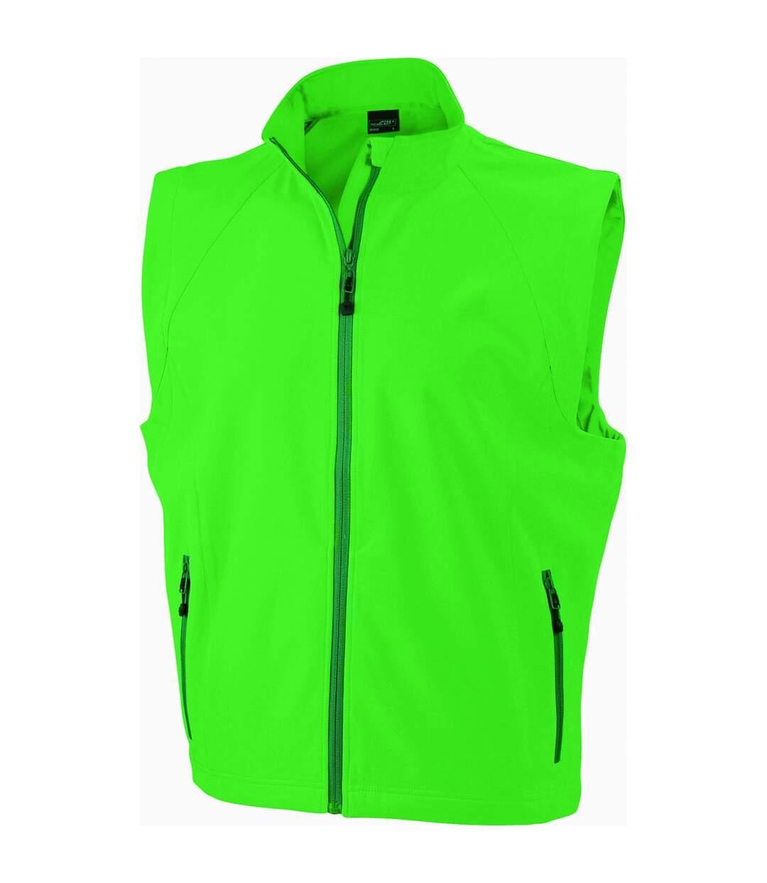 Gilet sans manches softshell coupe-vent imperméable - JN1022 - vert - homme