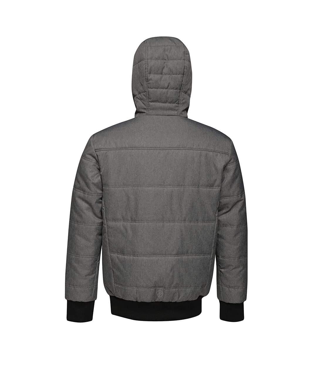 Regatta Mens Thrust Insulated Hooded Jacket (Blue Grey/Jet Black) - UTRG3746