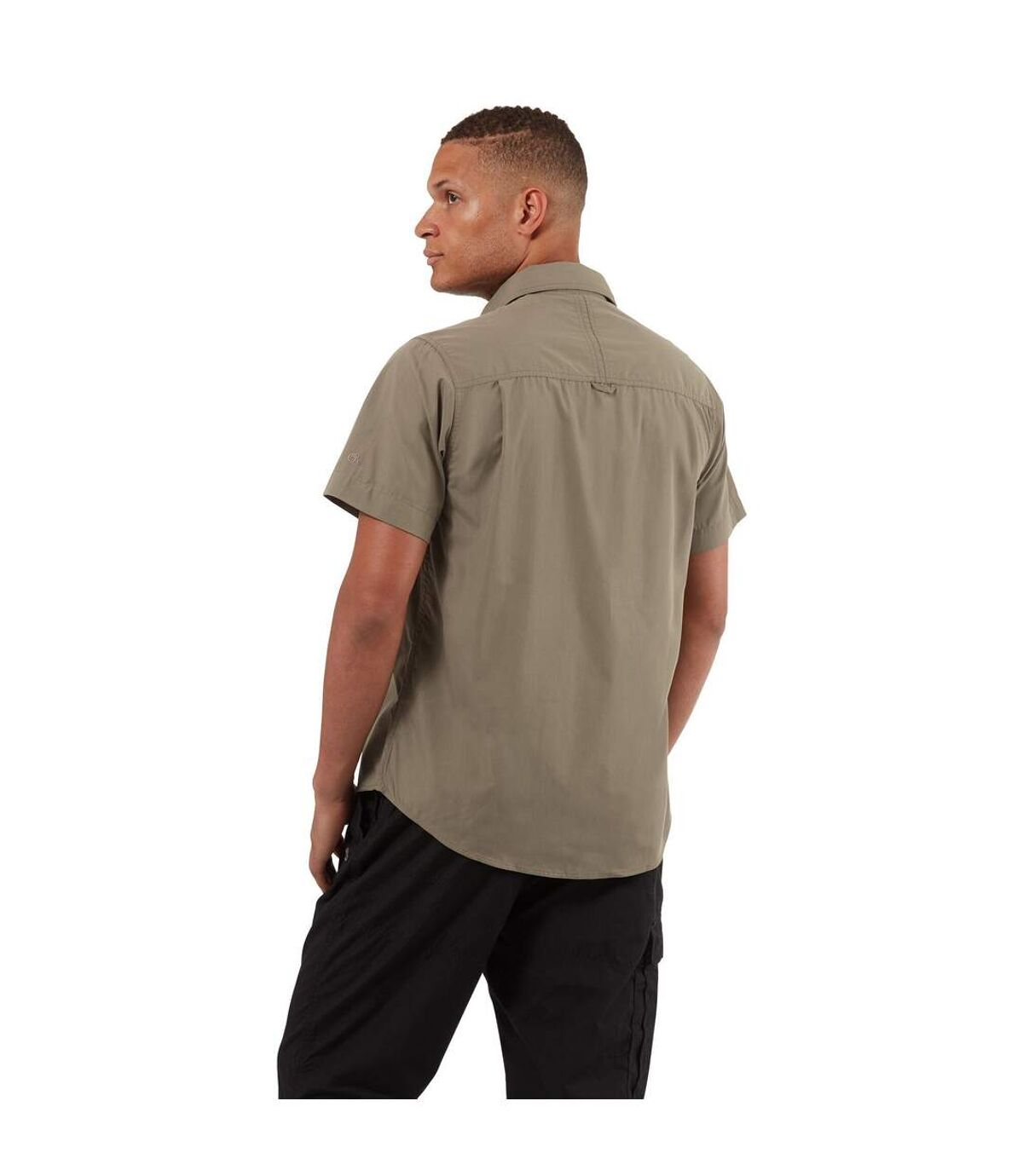 Craghoppers Outdoor Classic Mens Kiwi Short Sleeve Shirt (Pebble) - UTCG181