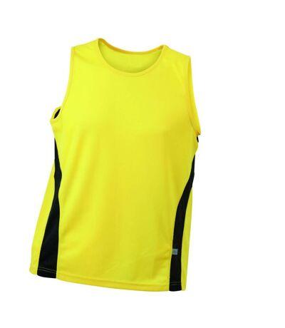 Débardeur running respirant JN305 - jaune - HOMME