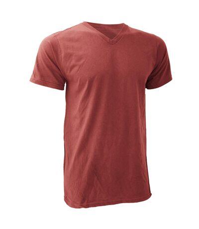Anvil Mens V Neck Fashion Tee / T-Shirt (Red) - UTRW144