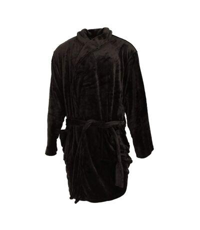 Pierre Roche Mens Luxury Super Soft Dressing Gown (Black) - UTN1048