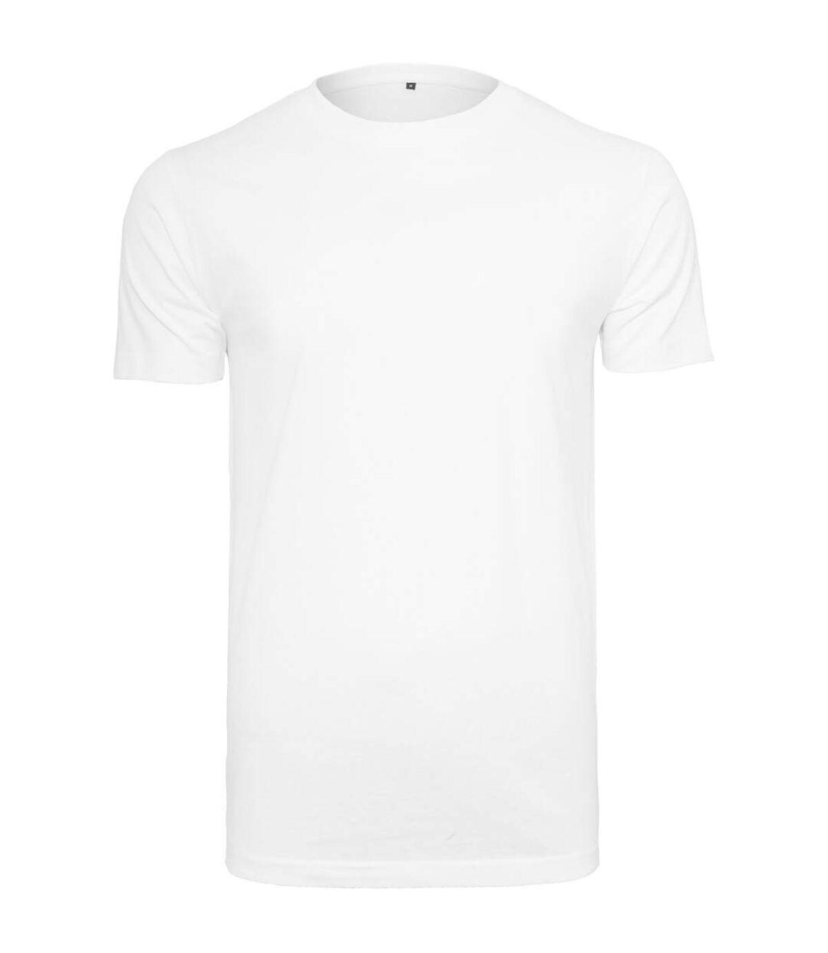 Build Your Brand Mens T-Shirt Round Neck (White) - UTRW5815