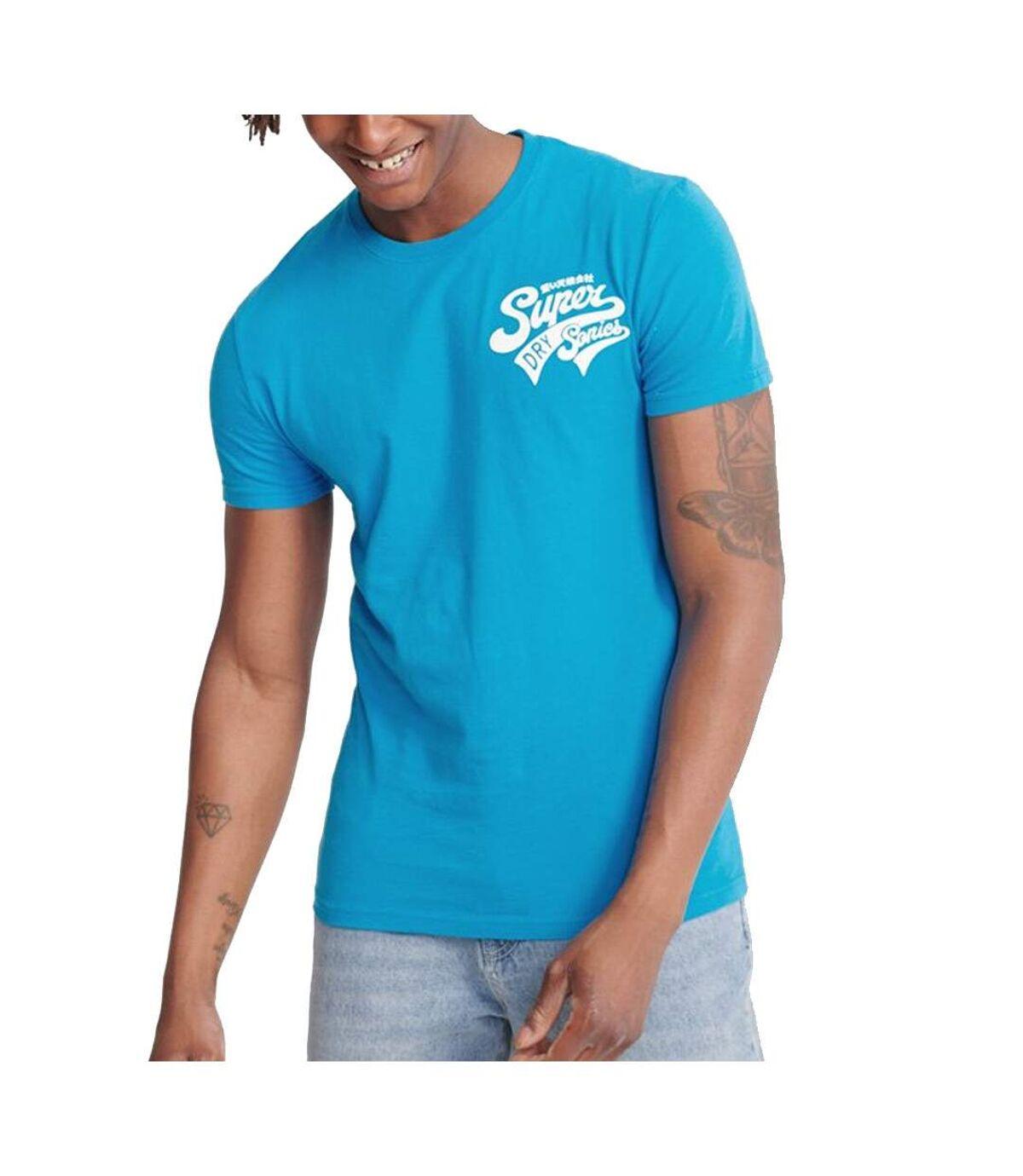 T-Shirt bleu homme Superdry Script Classic Tee