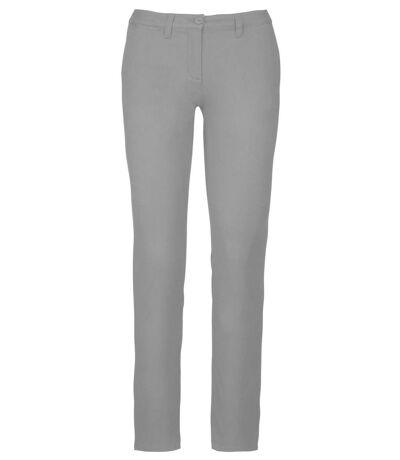 pantalon chino pour femme - K741 - gris clair