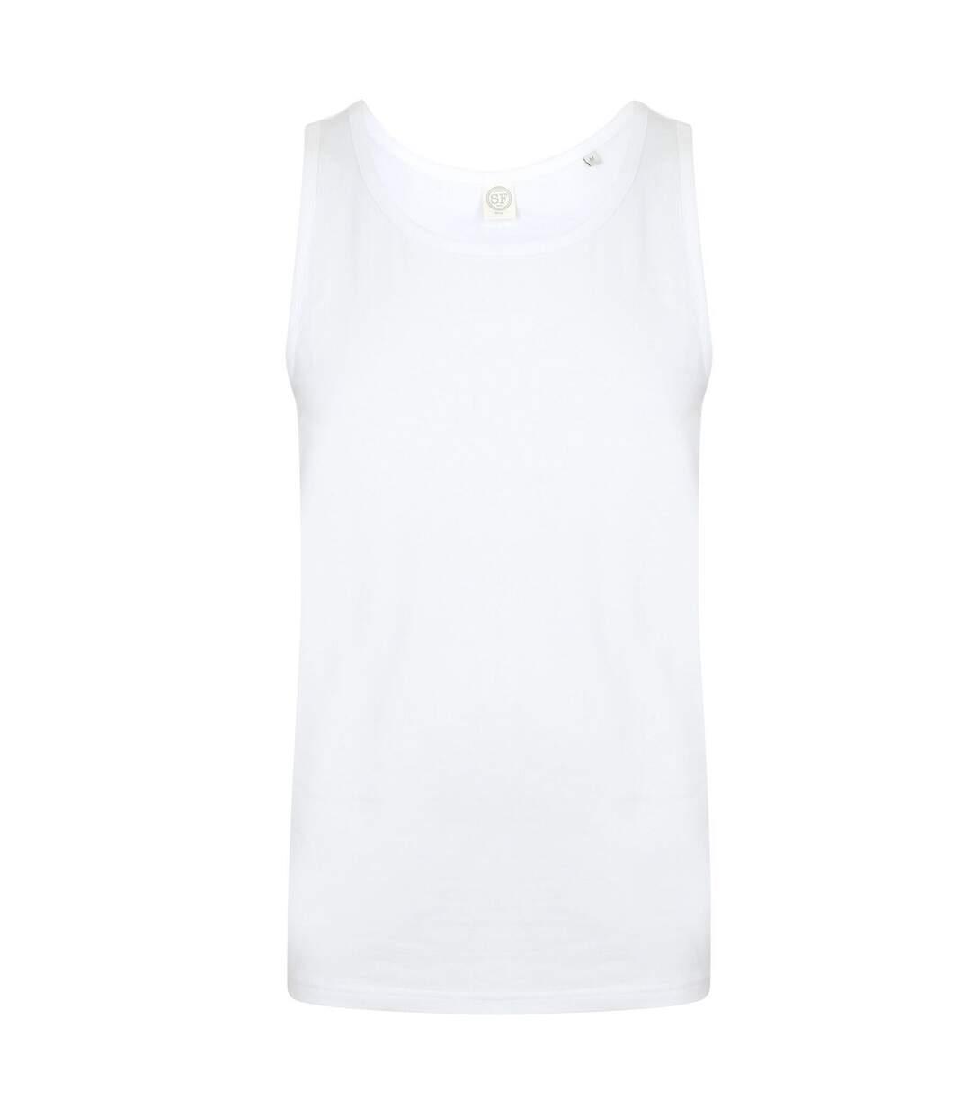 SF Mens Feel Good Stretch Vest (White) - UTPC3020
