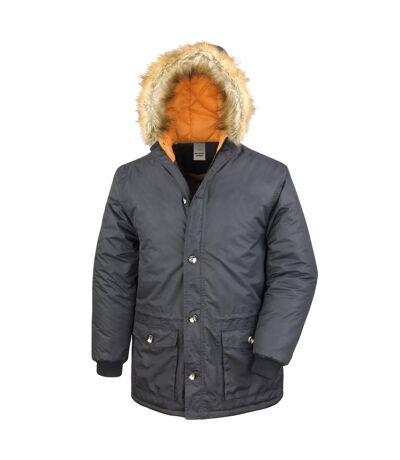 Result Mens Urban Outdoor Urban Stormdri 2000 Long Parka Jacket (Black) - UTRW3703