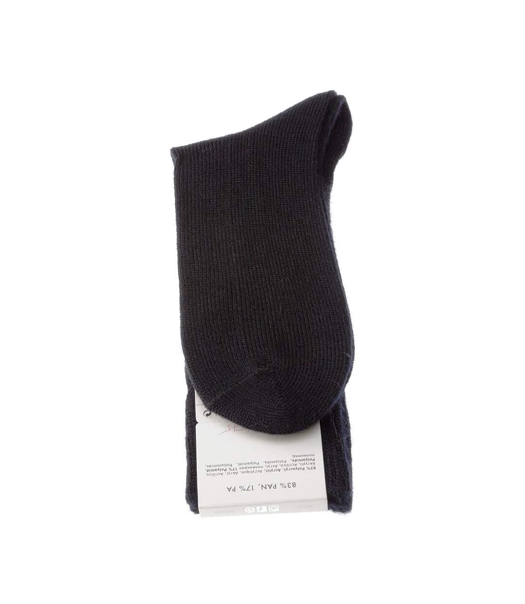 Dégagement Chaussette Mi-Hautes 1 paire Sans bouclette Carreau Chaude Acrylique Noir Preston dsf.d455nksdKLFHG
