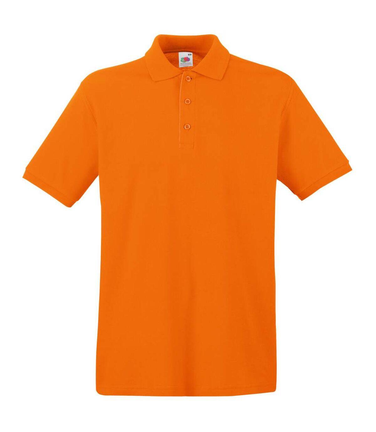Fruit Of The Loom Premium Mens Short Sleeve Polo Shirt (Kelly Green) - UTBC1381