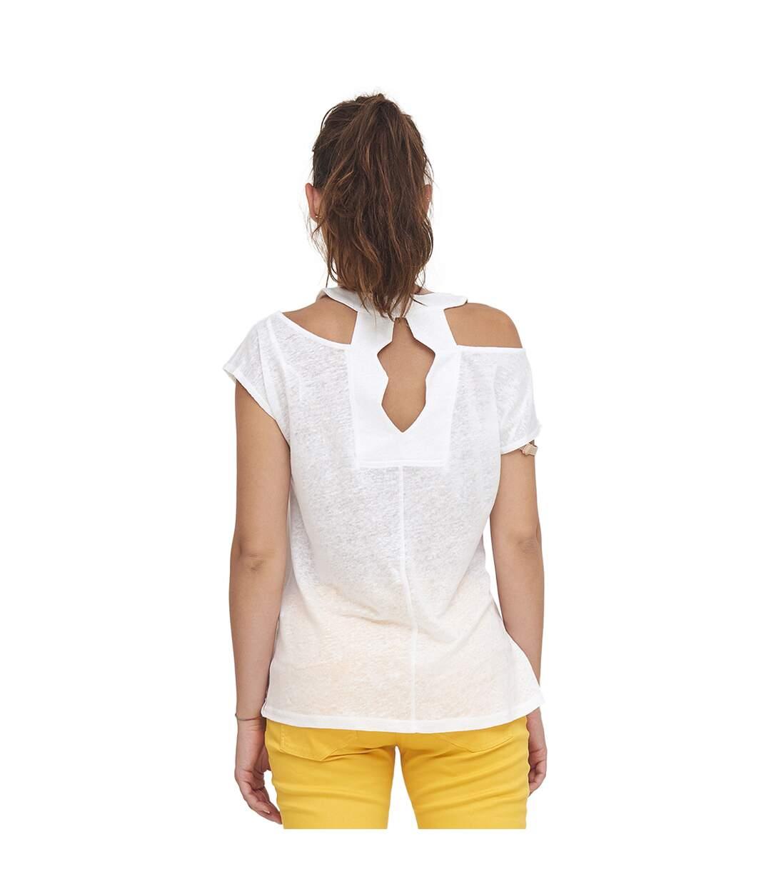 Dégagement Mado et les Autres T-shirt à imprimé épaules dénudées  Femme dsf.d455nksdKLFHG
