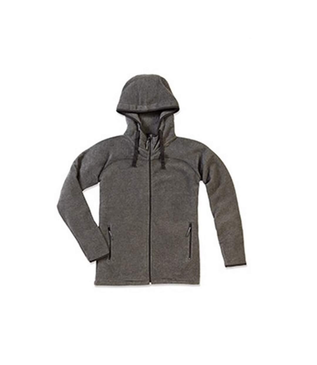 Stedman Mens Active Power Fleece Jacket (Anthra Heather Grey) - UTAB293