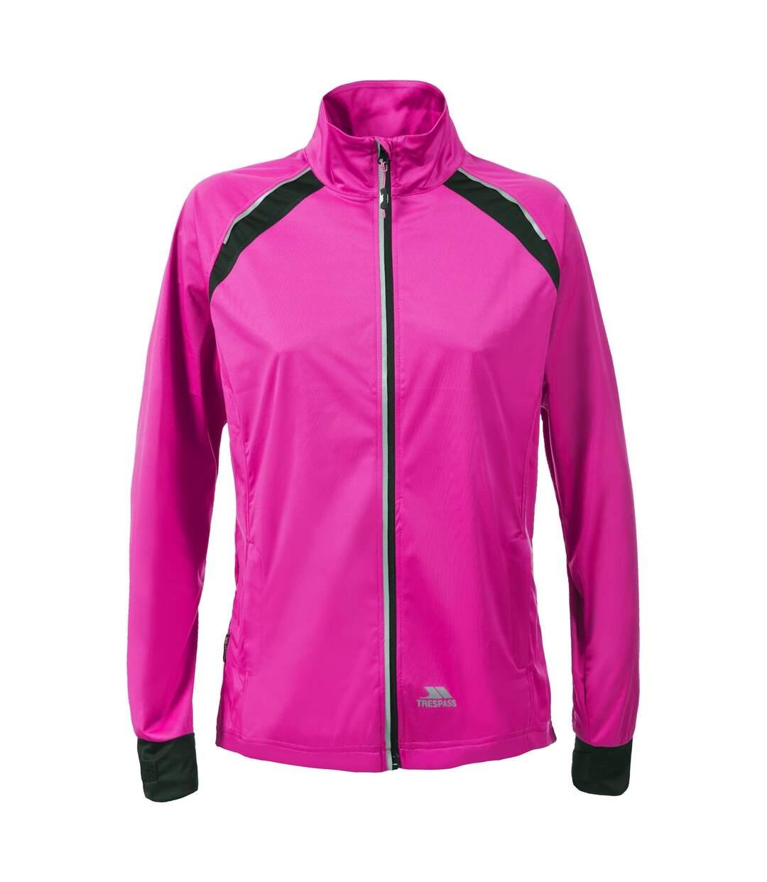 Trespass Womens/Ladies Covered Waterproof Shell Jacket (Pink Glow) - UTTP3439