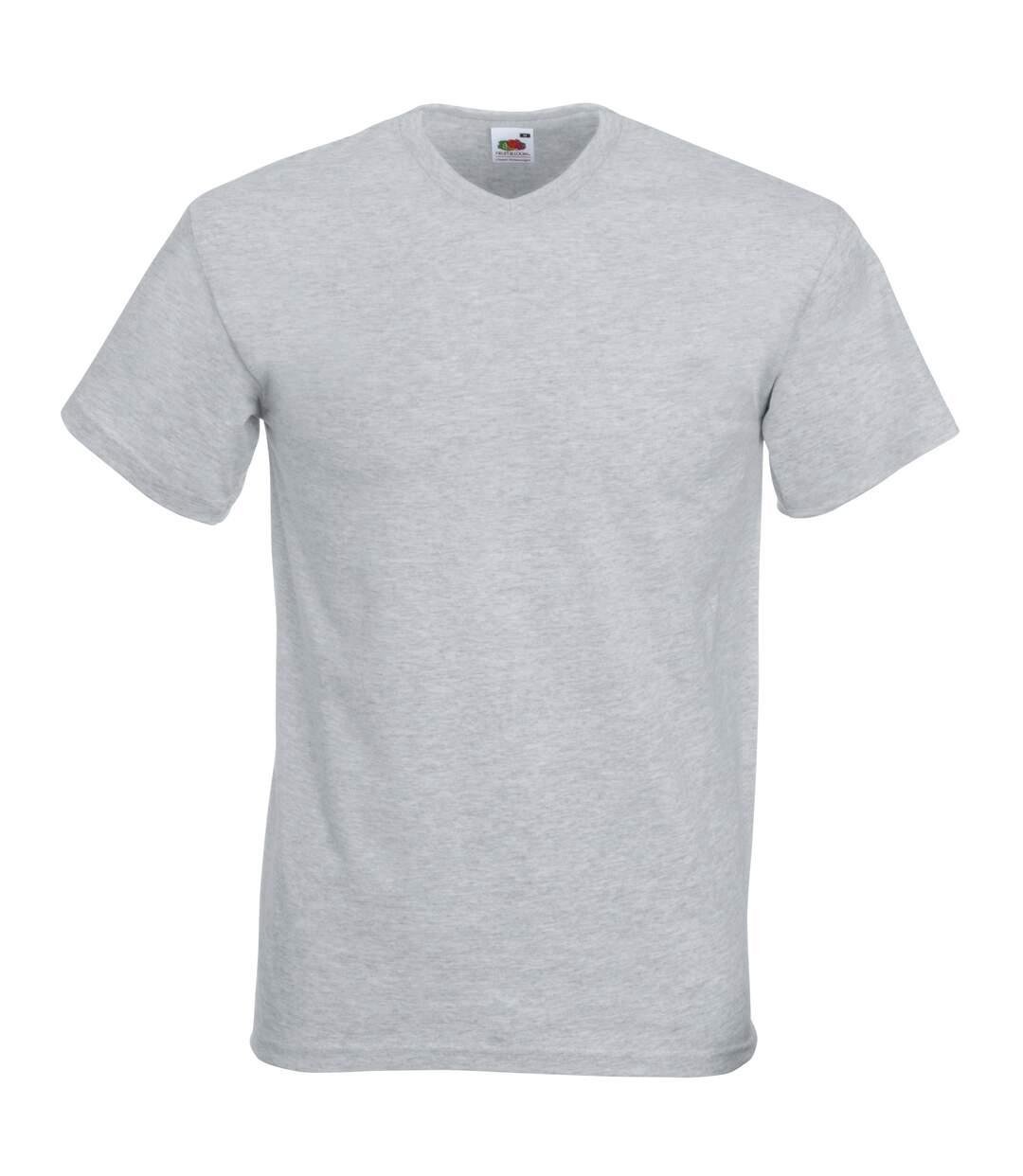 Fruit Of The Loom Mens Valueweight V-Neck, Short Sleeve T-Shirt (Deep Navy) - UTBC338