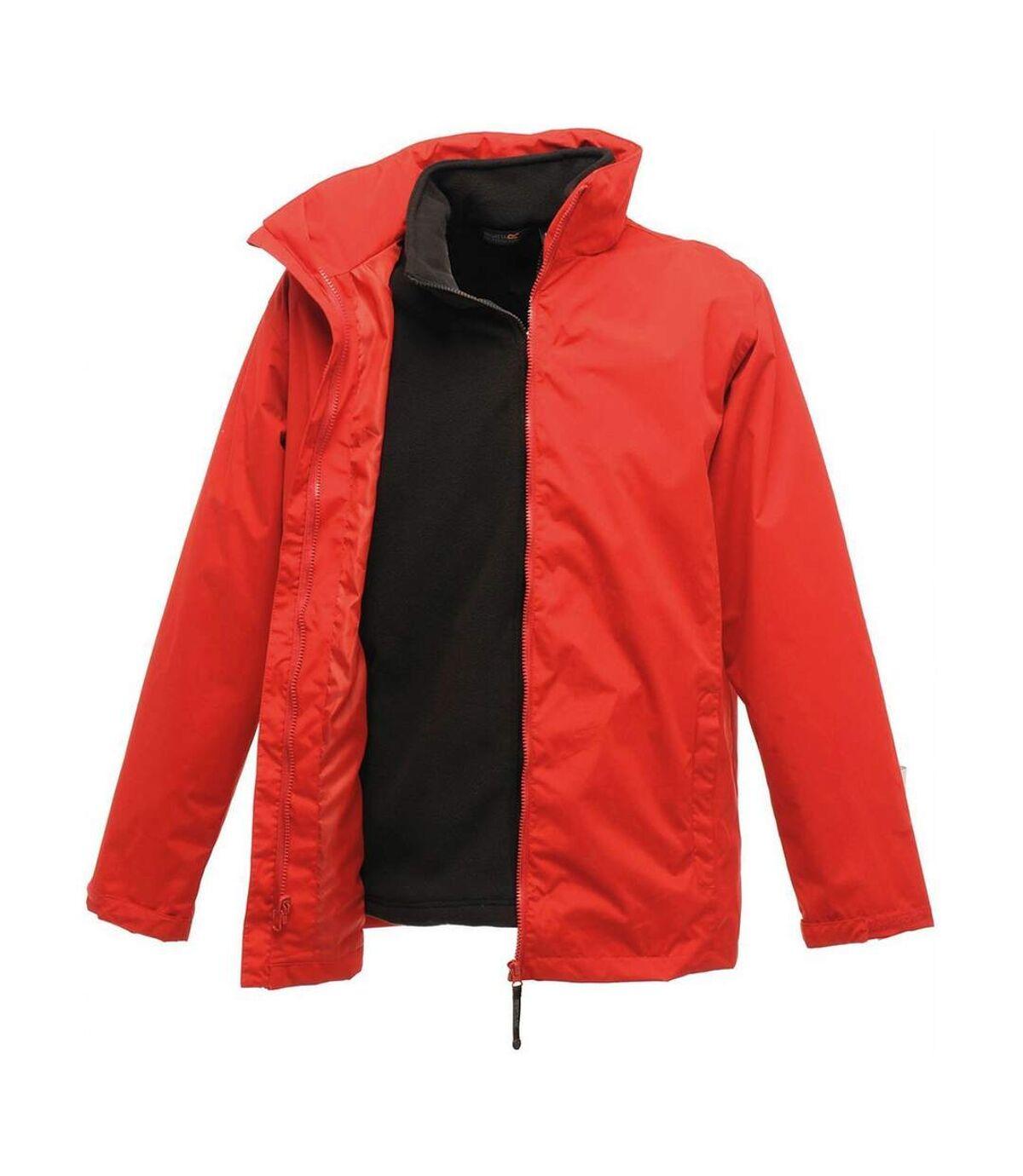 Parka veste imperméable 3 en 1 homme TRA150 - rouge