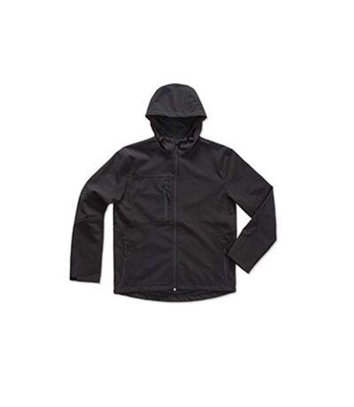 Stedman - Softshell à capuche ACTIVE (Noir) - UTAB308