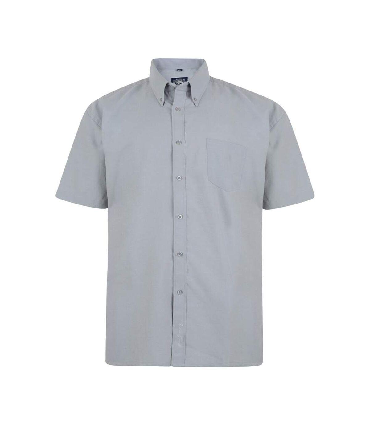 Kam Jeanswear Mens Short Sleeve Oxford Shirt (Grey) - UTKJ158