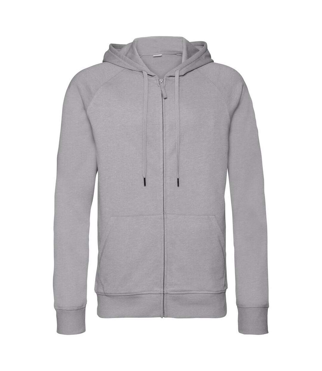 Russell Mens HD Zipped Hood Sweatshirt (Silver Marl) - UTRW6076