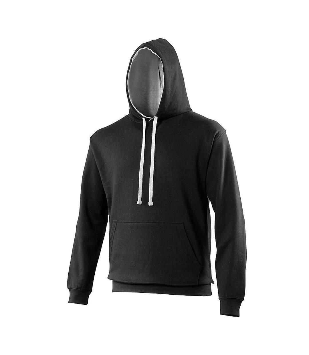 Awdis Varsity Hooded Sweatshirt / Hoodie (Burgundy/Gold) - UTRW165