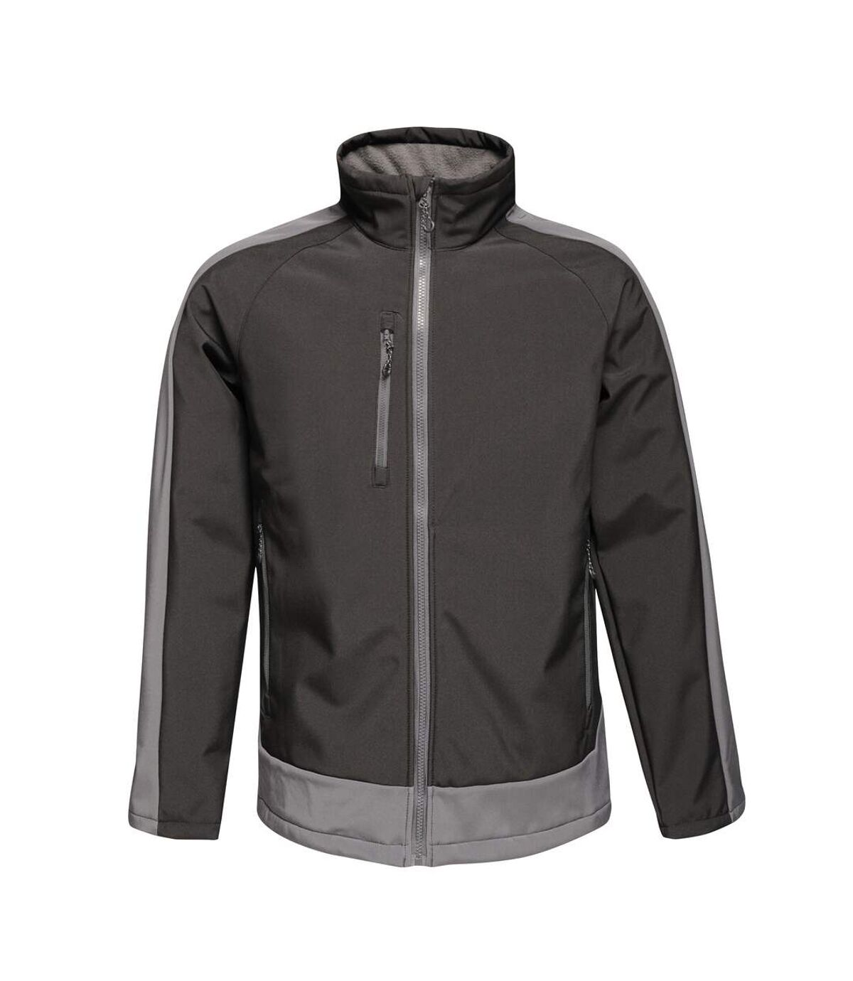 Regatta Contrast Mens 3-Layer Printable Softshell Jacket (Black/Seal) - UTRW6355