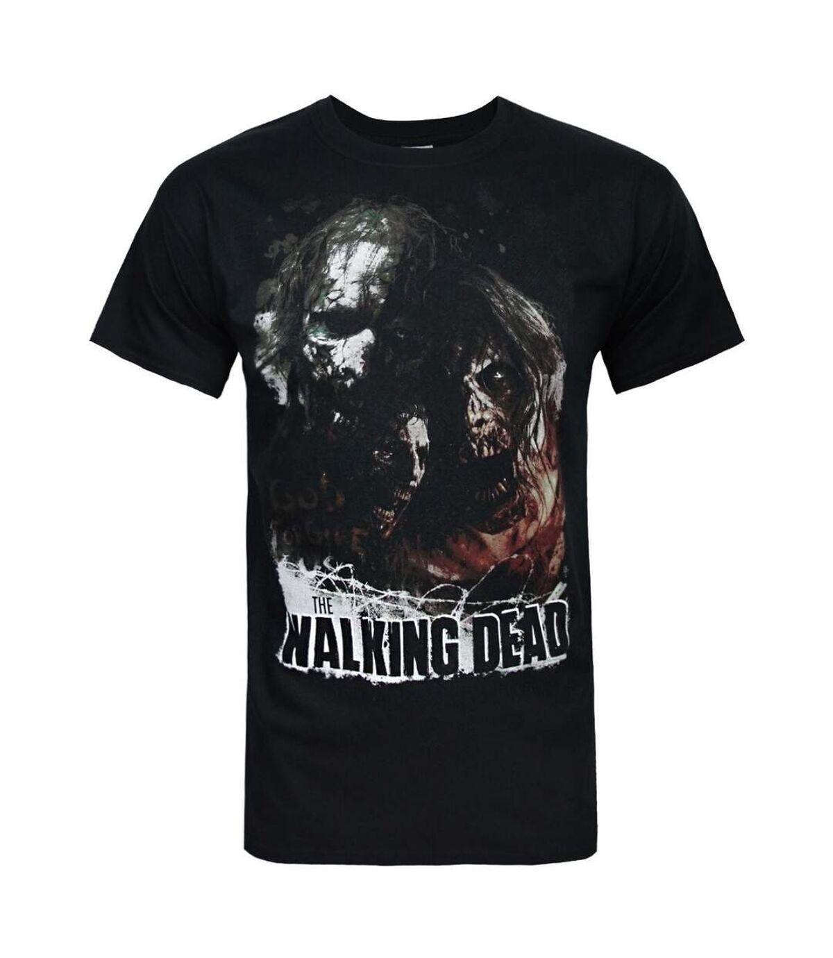 The Walking Dead Mens God Forgive Us T-Shirt (Black) - UTNS5584