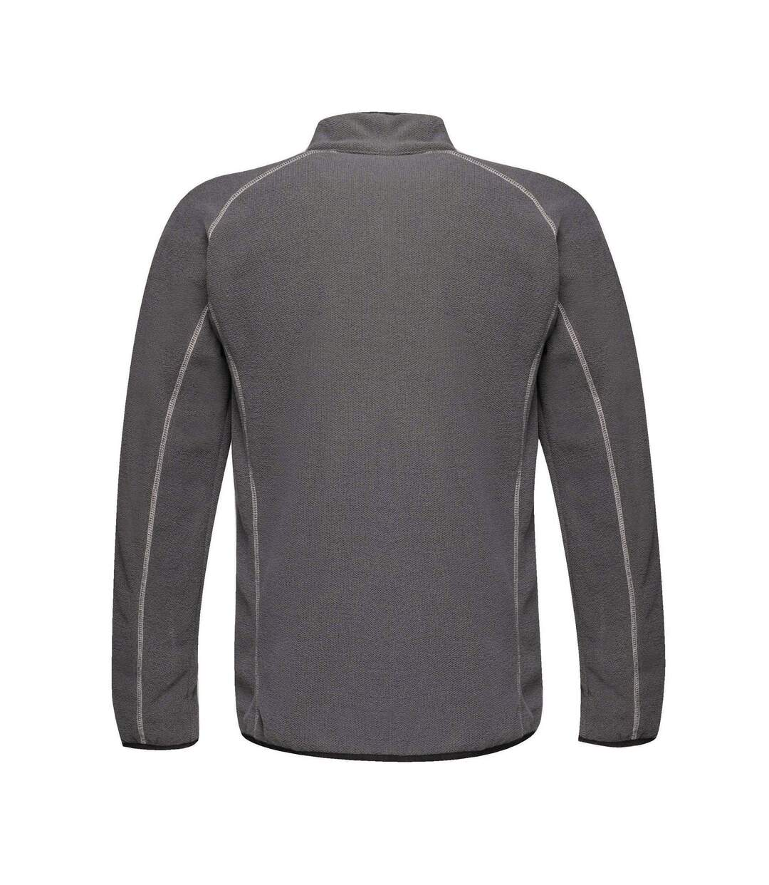 Regatta Mens Dreamste Full Zip Mini Honeycomb Fleece (Seal Grey) - UTRG4158