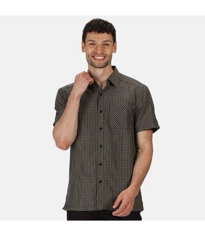 Regatta Mens Mindano V Short Sleeved Checked Shirt (Ash) - UTRG4958