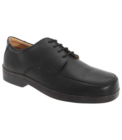 Roamers Mens Extra Wide Fitting Lace Tie Shoes (Black) - UTDF638