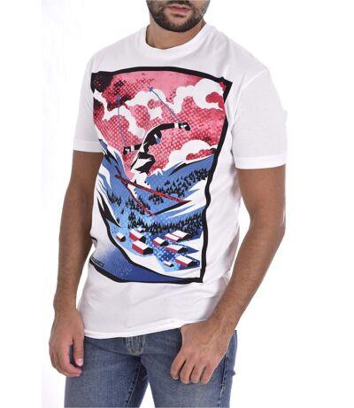 Tee shirt coton printé surf  -  Dsquared2 - Homme