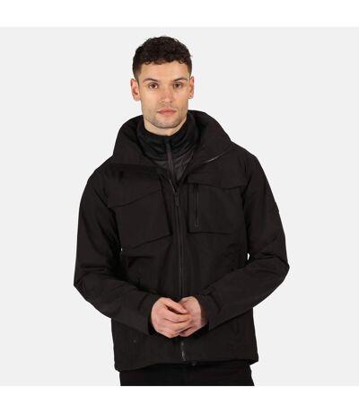 Regatta Mens Shrigley Waterproof Jacket (Black/Ash) - UTRG5305