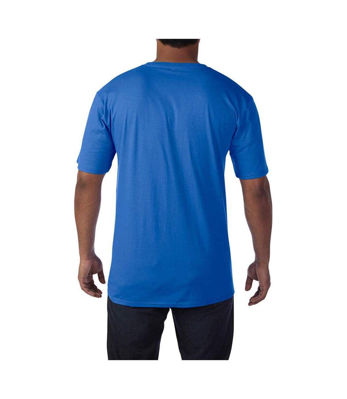 Gildan Mens Premium Cotton V Neck Short Sleeve T-Shirt (Royal) - UTBC3483