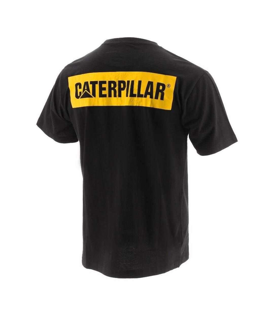 Caterpillar Mens Icon Block Short Sleeved T-Shirt (Black) - UTFS6850