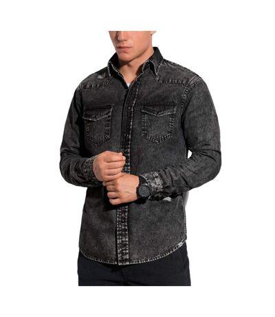 Chemise jean pour homme Chemise 567 noir