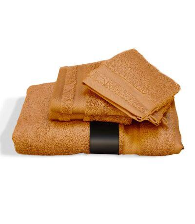 Parure de bain 5 pièces ROYAL CRESENT Miel 650 g/m2