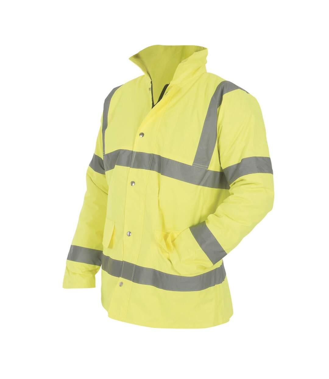 Yoko Mens Hi-Vis Road Safety Jacket (Pack of 2) (Hi-Vis Yellow) - UTBC4399