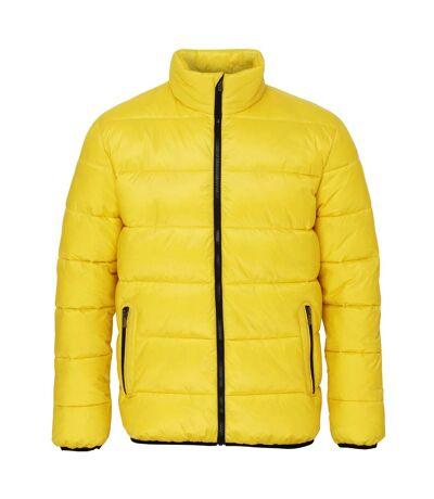 2786 Mens Venture Supersoft Padded Full Zip Jacket (Bright Yellow / Black) - UTRW3848