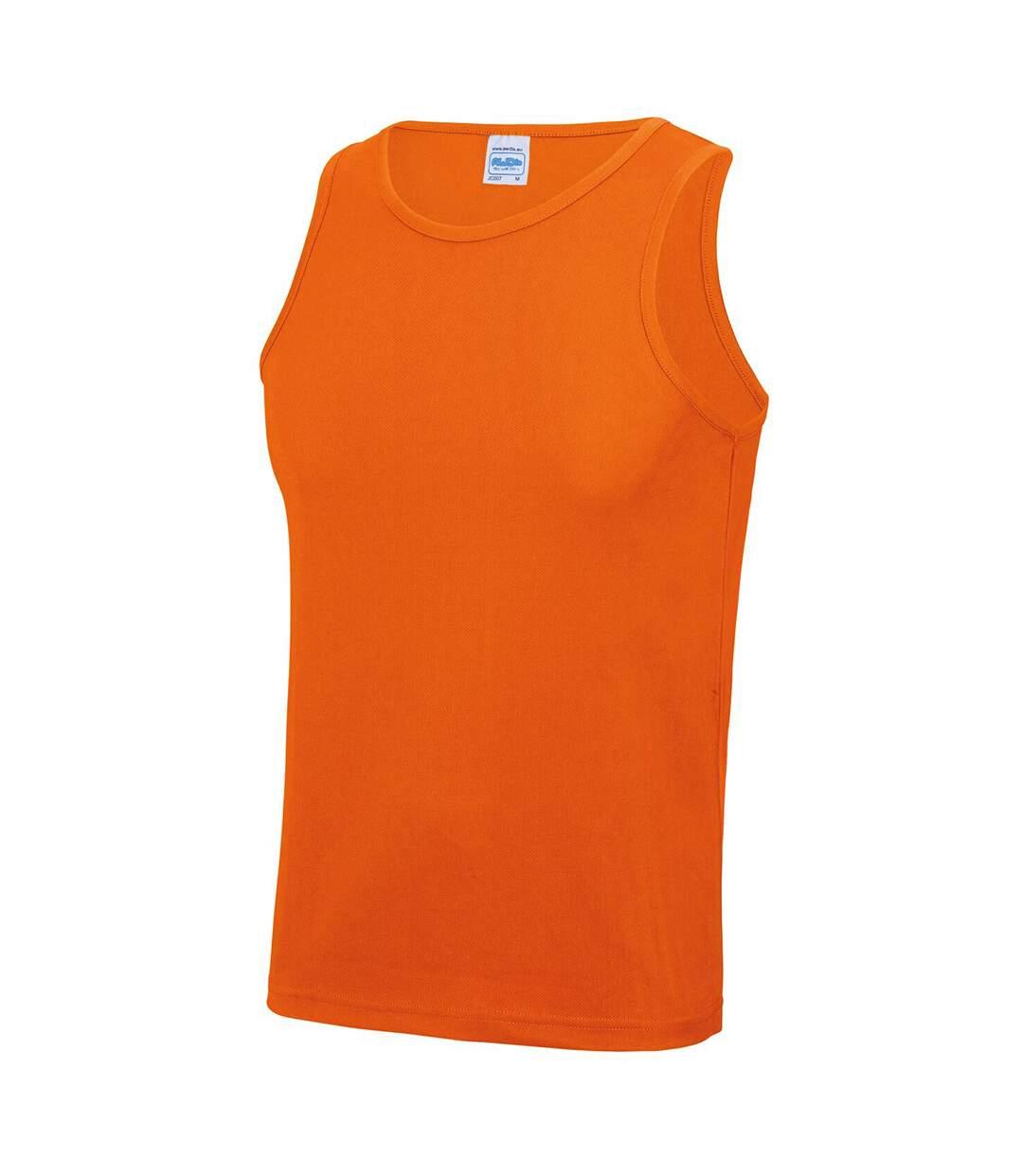 Just Cool Mens Sports Gym Plain Tank / Vest Top (Hot Pink) - UTRW687