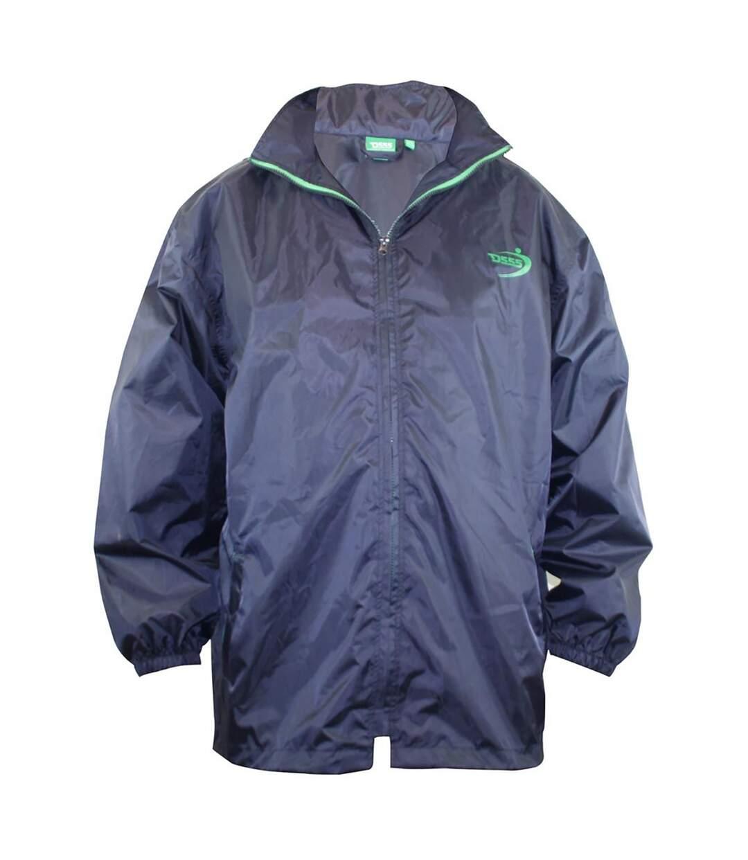 Duke Mens Zac Kingsize D555 Packaway Weather Proof Rain Jacket (Navy) - UTDC226