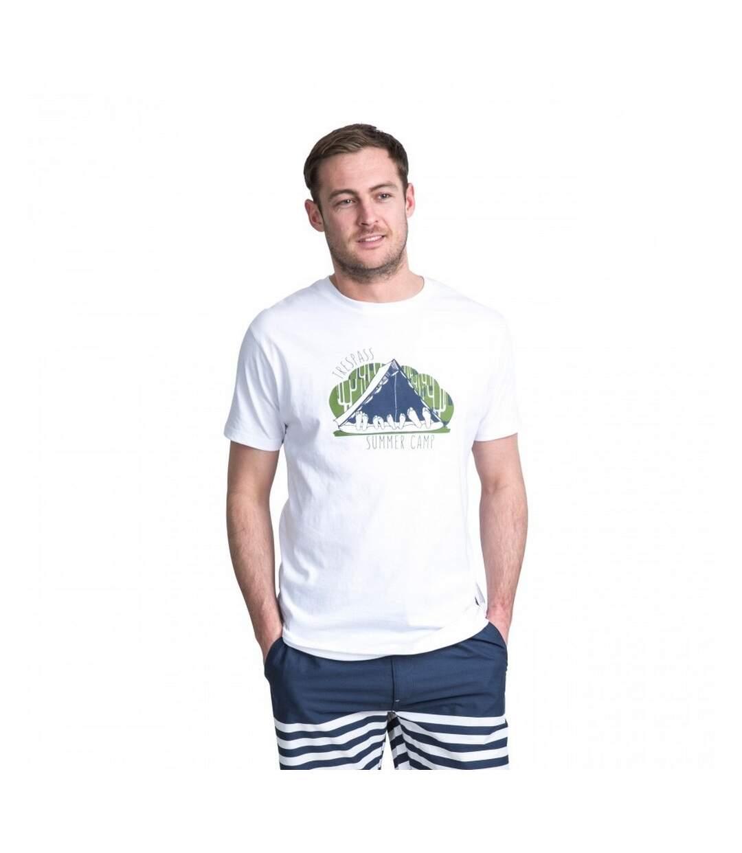 Trespass Mens Camp Casual Short Sleeve T-Shirt (White) - UTTP3397
