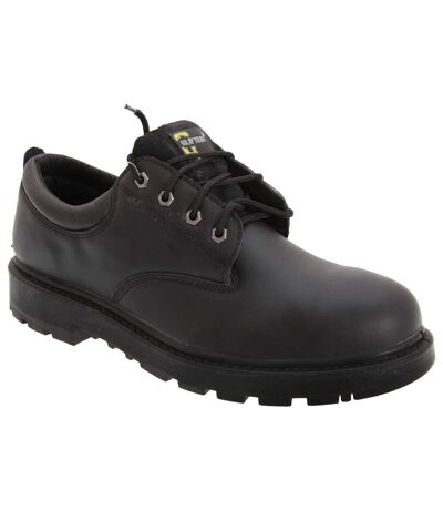 Grafters Mens Contractor 4 Eye Safety Shoes (Black) - UTDF696