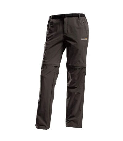 Regatta Great Outdoors Mens Xert Stretch Zip Off Trousers II (Roasted) - UTRG2295