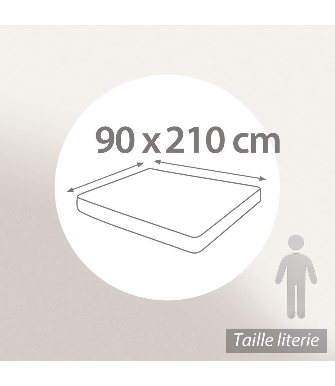 Protège matelas 90x210 cm ACHUA Molleton 100% coton 400 g/m2 bonnet 50cm