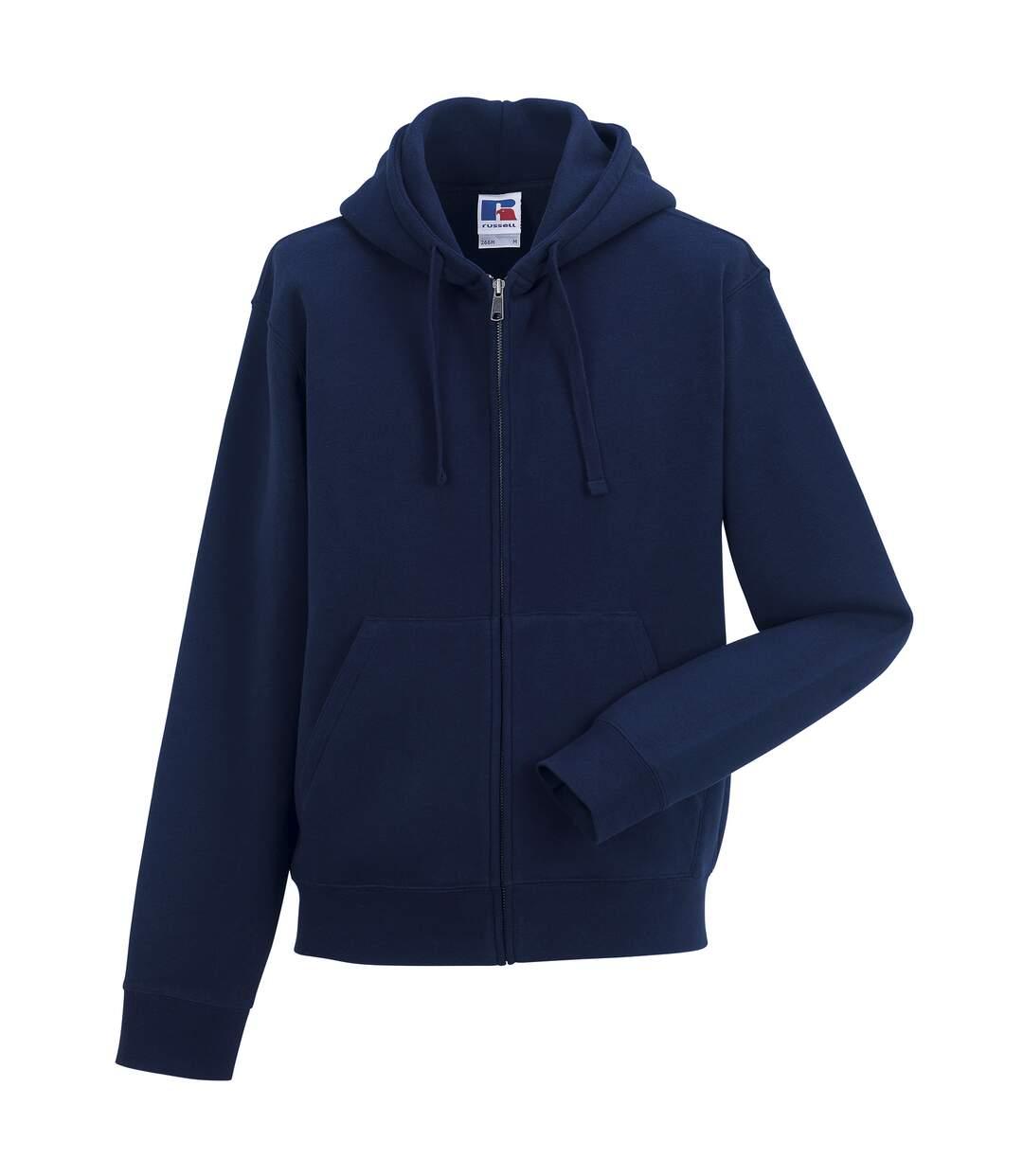 Russell Mens Authentic Full Zip Hooded Sweatshirt / Hoodie (Bright Royal) - UTBC1499