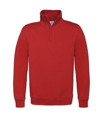 B&C Mens ID.004 1/4 Zip Sweatshirt (Heather Grey) - UTRW3028