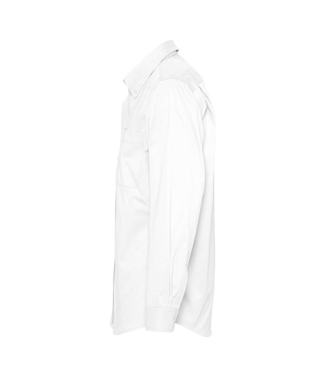 SOLS Mens Bel-Air Long Sleeve Twill Work Shirt (White) - UTPC389