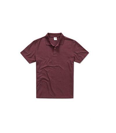 Stedman Mens Cotton Polo (Burgundy Red) - UTAB282