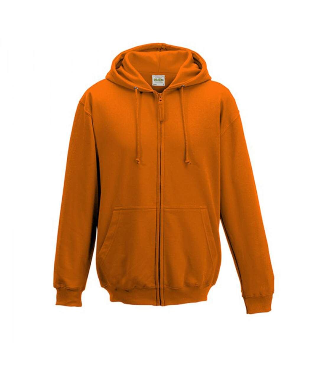 Awdis Plain Mens Hooded Full Zip Hoodie / Zoodie (Orange Crush) - UTRW180