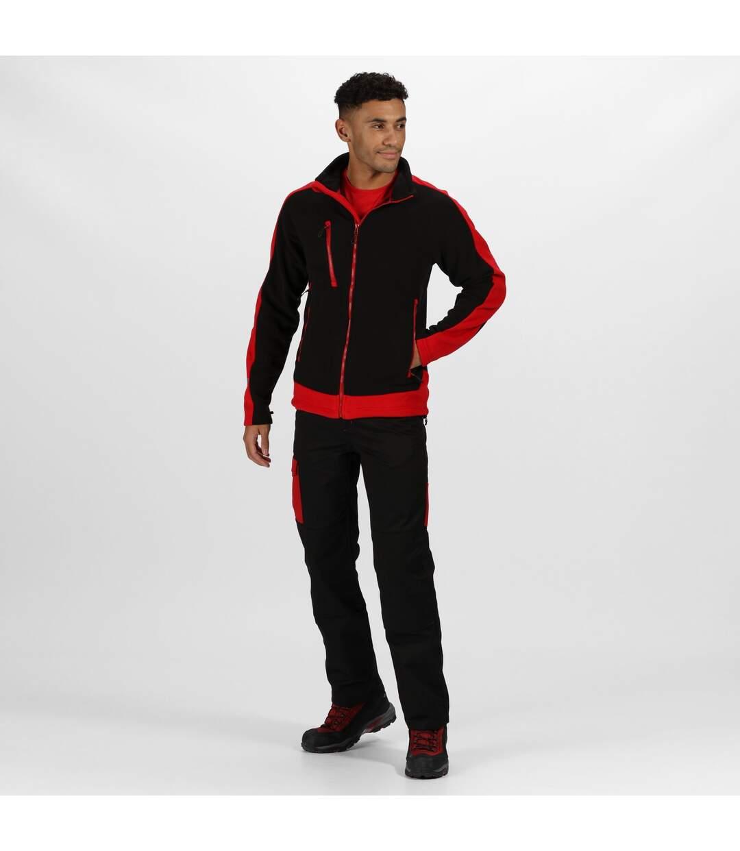 Regatta - Veste polaire CONTRAST - Homme (Noir / rouge) - UTRG3568