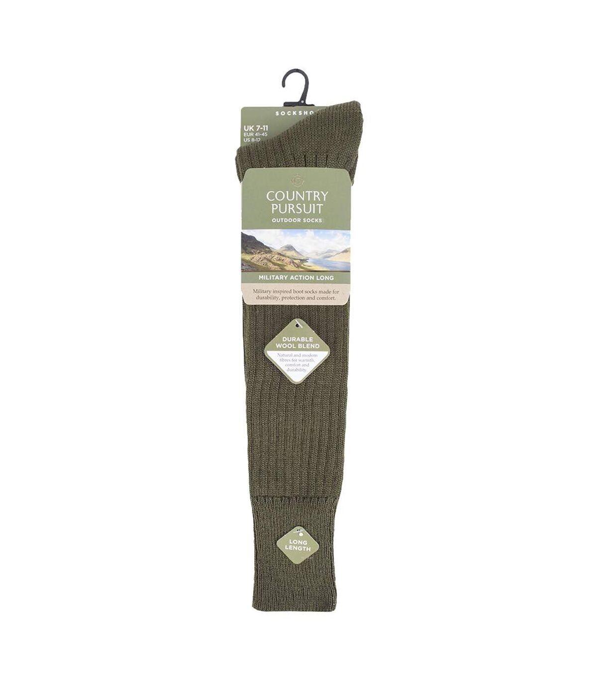 Mens Wool Military Action Knee High Walking Socks